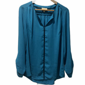 ModCloth Long Sleeve Pullover Collarless Roll tab